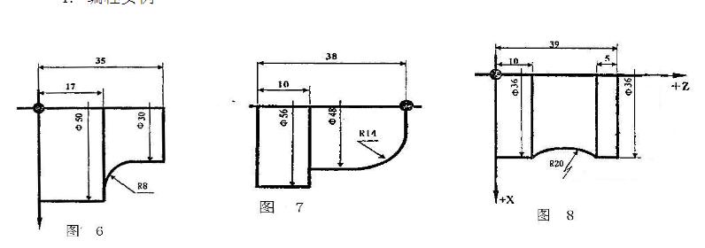 数控车床基本程序圆弧插补指令:编程实例