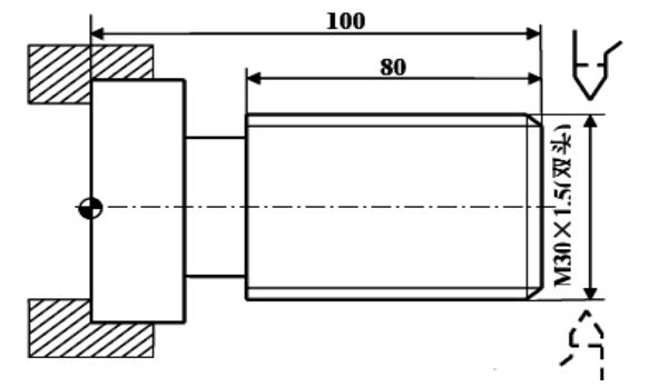 数控车床基本程序G82 切削循环编程实例图
