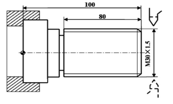 数控车床基本程序螺纹编程实例图