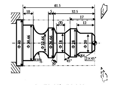 G71有凹槽复合循环编程实例
