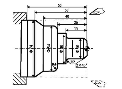 数控车床G72外径粗切复合循环编程实例