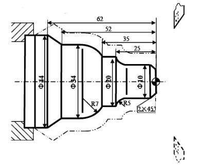 数控车床闭环车削复合循环G73指令运用实例