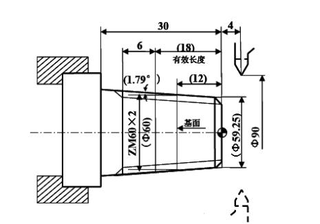 数控车床指令G76循环切削编程实例