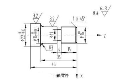 数控车床车削轴零件实例