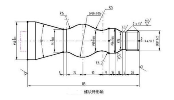 数控车床车削细纹特形轴实例